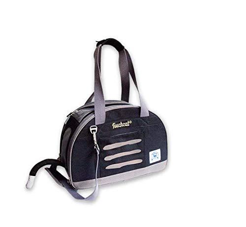 Nylon Pet Bag, tragbare Hand einzigen Schulter Rucksack, Ausflug Pet Sling Carrier (Farbe : Schwarz, Größe : 18-One shoulder) -