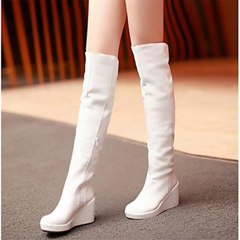 GLL&xuezi Mujer Botas Confort PU Otoño Invierno Casual Blanco 12 cms y Más , white , us7.5 / eu38 / uk5.5 / cn38