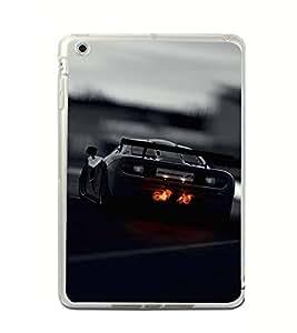 PrintVisa Designer Back Case Cover for Apple iPad Mini 4 :: Apple iPad Mini 4 Wi-Fi + Cellular (3G/LTE); Apple iPad Mini 4 Wi-Fi (Wi-Fi, W/o GPS) (Car Rear Drive Road Sky Royal)