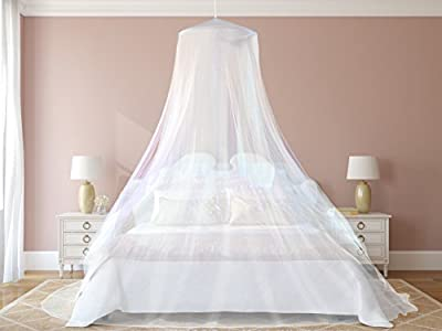 #1 The Best Mosquito Net for Double Bed Canopy | Largest Screen Netting Curtains | Bonuses: 2 Insect Repellent Bracelets, A Full Hanging Kit, Carry Bag + E-book - cheap UK light store.