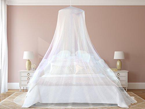 #1 Das beste Moskitonetz – Das größte Doppelbett Moskitonetz Baldachin – Insekten Malaria Schutz – Gratis Boni: 2 Insektenschutz Armbänder, ein Aufhängekit & Tragetasche