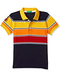 United Colors of Benetton Boy's Striped Regular fit Polo
