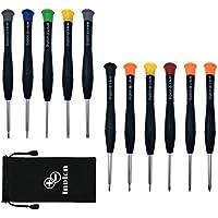 11 Kit de Herramienta de Precisión Magnética Juego de Destornilladores de Philips, Destornillador de gafas para IPhone, Reloj, Joyería, Lentes, Reparación de PC