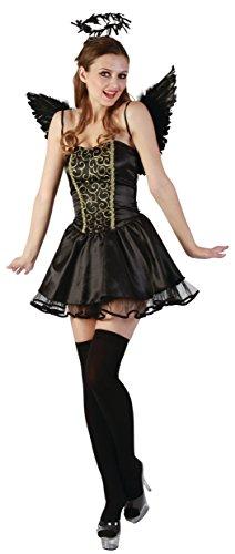 Imagen de reír y confeti  ficfee027  disfraz para adultos  negro ángel