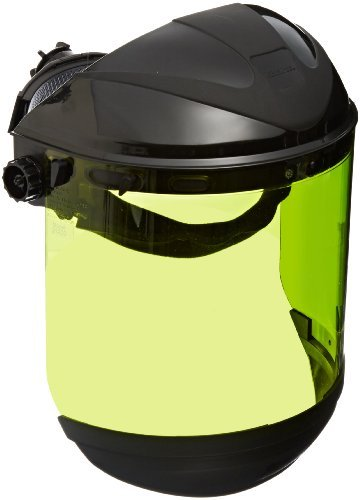 Polycarbonat-guard (Sellstrom 31200 ArcFlash Black Crown/Chin Guard and Polycarbonate 9.9 Cal Anti-Fog Window Protective Faceshield with Ratchet Headgear by Sellstrom)