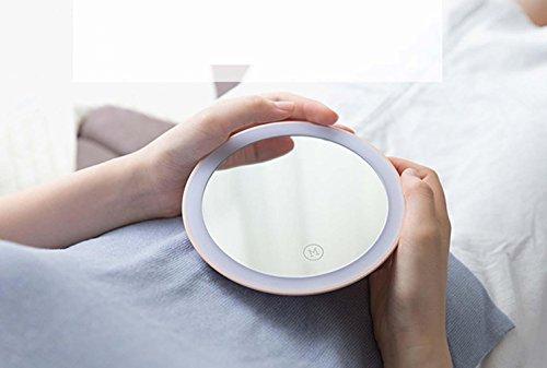 QCBC Beleuchtete Make-up Vanity Portable Spiegel mit Tischlampe für Schlafzimmer Home Decor Pink Creative Geschenke