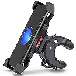 FYLINA Handyhalterung Fahrrad Motorrad Handy 360° Drehbare Halter Verstellbarer Smartphone Halter - Universelle Radsport Klammer 3,5-6,5 Zoll Phone