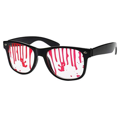 Baoblaze Lustige Partybrille Spaßbrille Sonnenbrille Mottobrille Karneval Fasching Halloween Kostüm Selfie-Requisit - Blut tropft