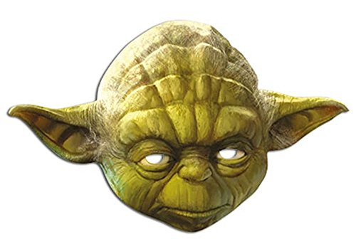 Party-Maske aus hochwertigem Karton Funny Masks Celebrity Pappe , Namen:Yoda (Clinton Kostüm Party)