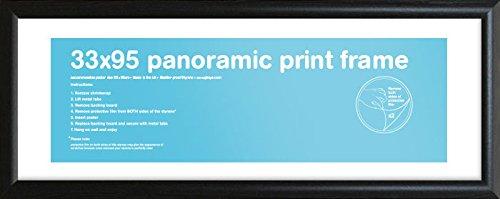 GB Eye schwarz Rahmen-Panorama, 33x 95cm, azurblau
