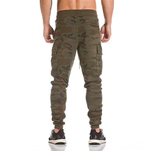 Topgrowth Uomo Sport Pantaloni Camuffare Fitness Pantaloni con Tasche Pantalone Calzoni All'aperto Casual Pantaloni Sportivi Camuffare