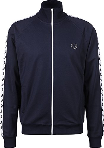 fred perry Fred Perry Taped Track Jacket Carbon Blue White, Sportjackett - L