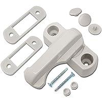 HomeSecure Sash Jammers - Cierre de seguridad para puertas y ventanas de PVC, color blanco