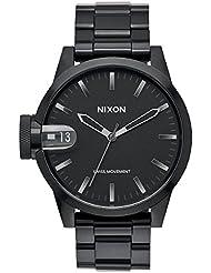 Nixon Herren-Armbanduhr Chronicle 44 Analog Quarz Edelstahl beschichtet A441-1420-00