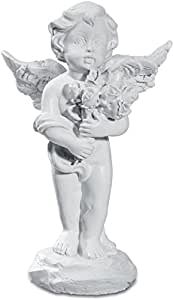 Figurine ange avec rose
