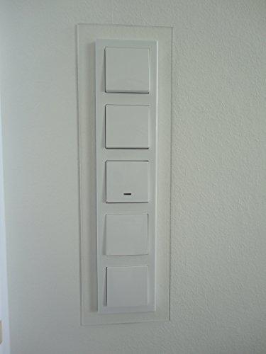 Schalterblenden, Abdeck Dekor Rahmen, passend für alle vorh. Schalter (5er Blende, klar)