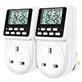 Digital Daily Programmable Timer Plug Socket with Countdown and Periodic ON-Off Cycling Timer