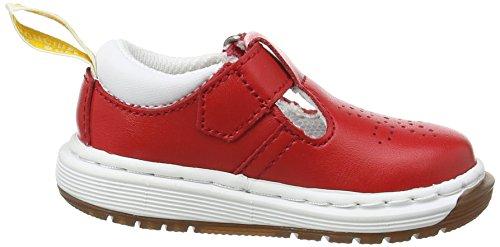 Dr. Martens Unisex-Kinder Dulice I Derby Schnürhalbschuhe Rot (Red T Lamper)