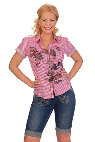 Trachtenbluse AW-8576 Pink
