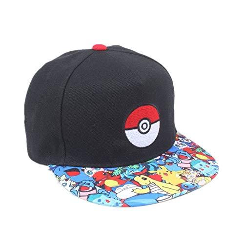 Imagen de maozijie cosplay juego para móvil pokemon go  de béisbol  de hip hop mujeres mans anime sombrero plano ajustable pokemon ash ketchum hat alternativa