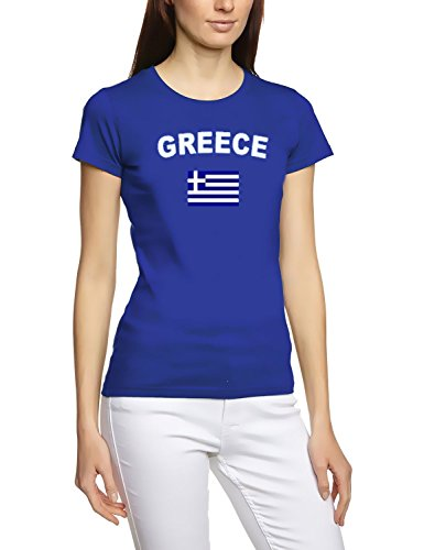 Griechenland T-Shirt girly blau, Gr.L