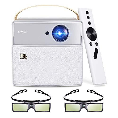 XGIMI CC Aurora Mini 3D DLP Projektor, integrierter JBL Lautsprecher und 20000 mAh Akku, Native 720p Unterstützung 1080P 4K + DLP Link Active 3D-Brille