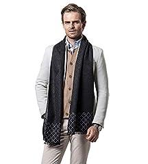 Idea Regalo - W.Best Men's Cashmere Scarf Classic Houndstooth Plaid Leisure Business Neckerchief
