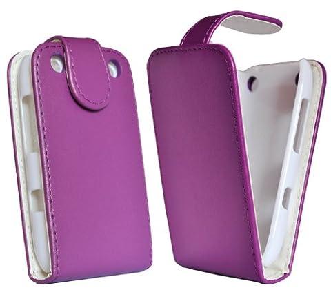 Accessory Master- Violet Housse étui en Cuir coque pour Nokia lumia 610
