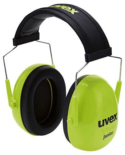 Uvex K Junior Kapselgehörschutz - Passiver Gehörschutz für Kinder - Lime-Schwarz