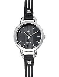 Go Girl Only Damen-Armbanduhr 698581–Quarz–Analog Zifferblatt schwarz Armband Leder schwarz