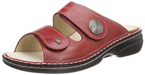 Austauschbare Fußbett (Finn Comfort Sansibar, Damen Pantoletten, Rot (Red), 39 EU)
