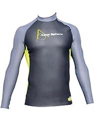 Aquasphere - Aquaskin Top 1 mm, color negro ,gris , talla L