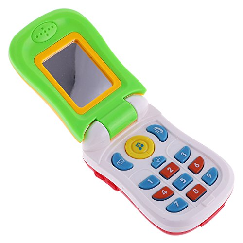 Sharplace Spielzeug Handy Telefon mit Musik aus Kunststoff Kinder Lern Motorik Spielzeug - 14,5 x 5,5 cm - Mehrfarbig 3 (Telefone-handys)