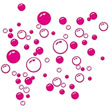 Pegatinas de Pared de Burbujas WINOMO Calcomanías de Pared Extraíble (Rosa Roja)