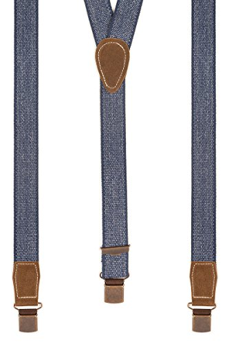 Trachten Hosenträger - TREIBER-WEB - blaumeliert, Größe 120 cm