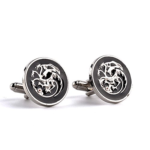 SWXCufflinks Accessori per Gioielli Film Around Ghiaccio e Fuoco Canzoni Power Game Accessori per Gemelli francesi