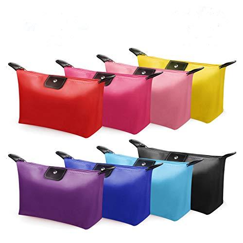 Ucradle Tragbare Kosmetiktasche Klein - 8 Stück Wasserdichte Make Up Tasche Schminktasche Kulturtasche für Reise, Dienstreise, Tour -