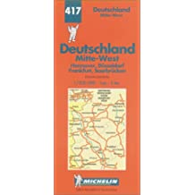 Michelin Karten, Bl.543 : Deutschland Mitte-West (Michelin Map, Band 417)