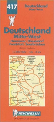 Carte routière : Allemagne Centre-Ouest, N° 417 par Cartes REGIONAL Michelin