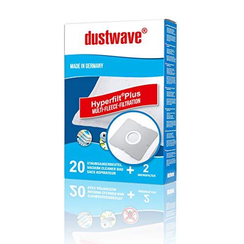 20 Staubsaugerbeutel + 2 Filter für Aldi Staubsauger Aktion Severin S\'Power BC 7046 von dustwave® ersetzt Swirl DD9 / Y101 / Y191 / Y201 / Y50 / Y93 / Y95