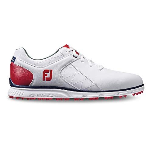 Footjoy Herren Pro SL ohne Golf Schuhe 53243, Herren, White/Red/Navy, 10 M US (10 Schuhe Golf Footjoy Sport)