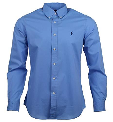 Ralph Lauren Herren Hemd - Classic Fit - Blau, Pink (Blau, M) - Classic-fit Ralph Shirt, Lauren
