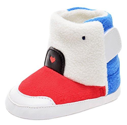 edfa8bfc6bc Happy Cherry - Chaussures Premier Pas pour Bébé Fille Garçon Semelle  Antidérapant Bottes Enfant Chaud Hiver