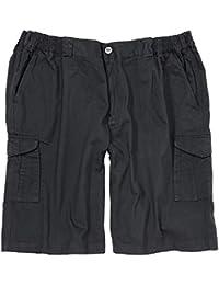 Schwarze Greyes Cargo Shorts in großen Größen bis 8XL