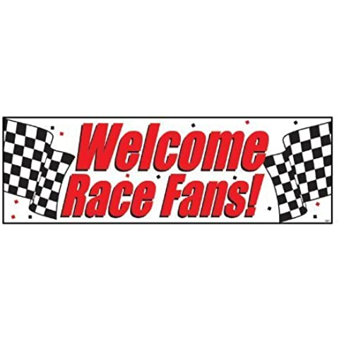 Welcome Race Fans Giant Banner 60