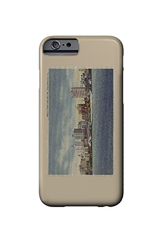 Jacksonville, FL - View of Water Front and Skyline (iPhone 6 Cell Phone Case, Slim Barely There) -