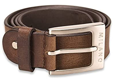 "Mens Full Grain Leather Belt 1.5"" in Black or Mid Brown / All Sizes"
