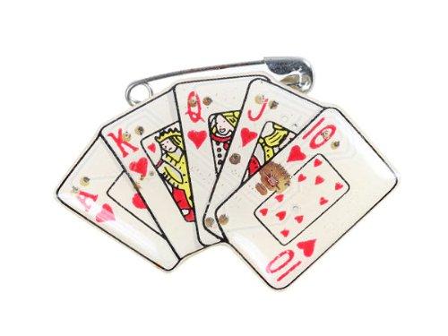 Blinki LED Anstecker Blinky Brosche LED Pin Button viele Motive, wählen:Karten 77