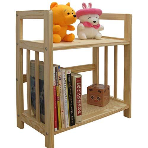 Bibliothèques à 2 tablettes en Bois de pin, étagère à Livres, étagères de Rangement Libres, étagère de Rangement pour étagère de Rangement pour CD, disques et Livres