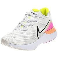 Nike Renew Run, Women's Road Running Shoes, Multicolour (Platinum Tint/Black-White-Pink Blast), 39 EU
